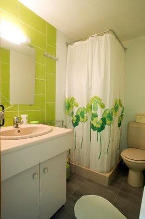 Chambres d'hotes Jolivet : Salle de bain chambre verte