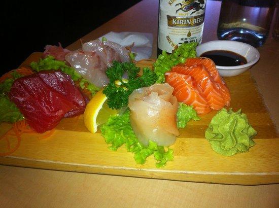 The Jitsu: Mixed sashimi, wasnt too bad.