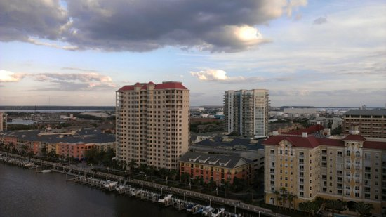 Tampa Marriott Waterside Hotel & Marina: view from suite 1701