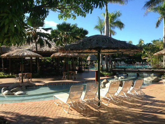 Outrigger Fiji Beach Resort: Part of the large pool area