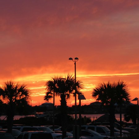 Margaritaville Beach Hotel: Sunset at the bar