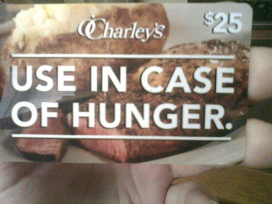 O'Charley's: gift card