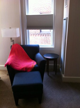 The Kimpton George Hotel: Chair with blanket