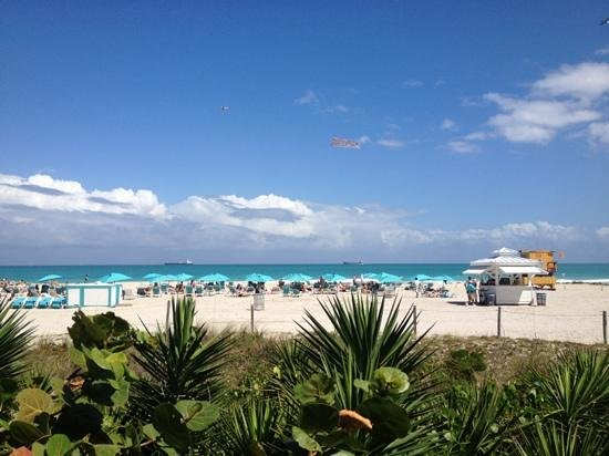 The Palms Hotel & Spa: La spiaggia dell'hotel vista dalla boardwalk.