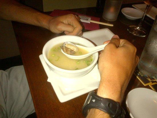 Kenichi Pacific Sushi & Pacific Rim: Miso with clams... genius!
