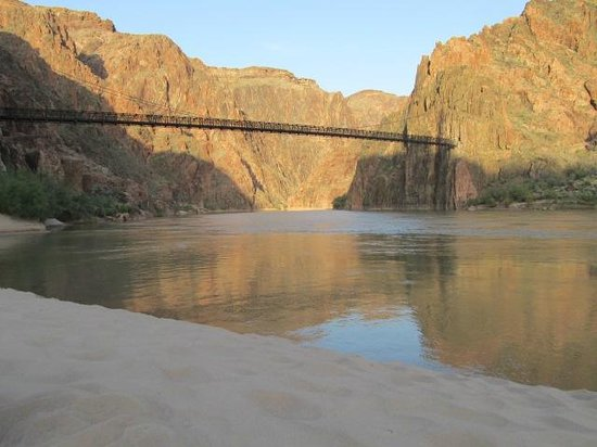 Centerfocus Experiences Black Bridge On The Colorado River From Boat Beach