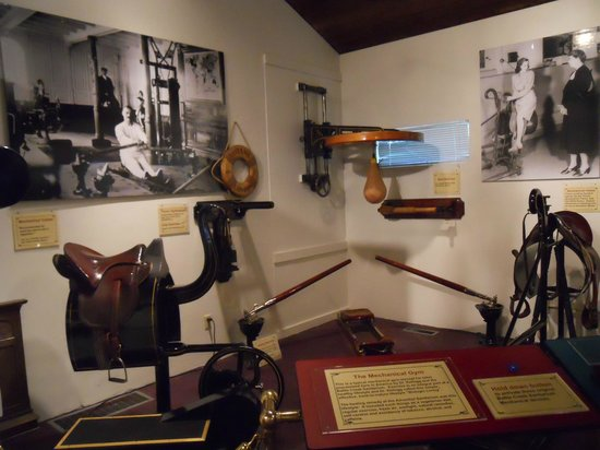 Dr. John Harvey Kellogg Discovery Center: Several pieces of equipment from he Mechanical Gym