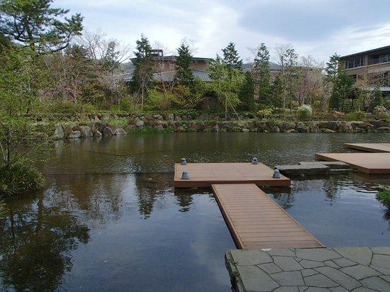 Hotel Harvest Hakone Koshien: 庭の眺め