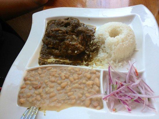 Restaurante El Batan: Lamb with rice 'n beans (cabrito) really good and nice server :P
