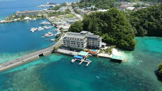 Sea Passion hotel : Hotel from helicopter ride