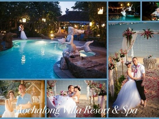 ‪‪Aochalong Villa & Spa‬: Beach Wedding‬