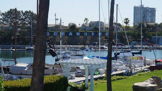 Oceanside Marina Suites: Yacht dock