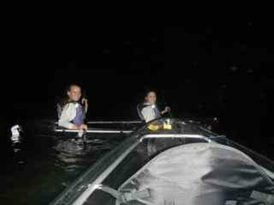 Bioluminescent (Mosquito) Bay: In our clear canoes at Vieques Bio Bay (Mosquito Bay) but no Mosquitoes !