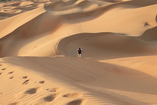 Qasr Al Sarab Desert Resort by Anantara: Walking in the dunes...spectacular scenery