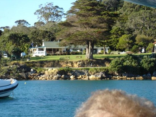 Great Barrier Lodge: Lodge viewed from sea