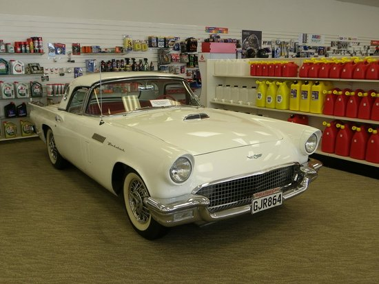 E Hayes and Sons - The World's Fastest Indian: ford thunderbird