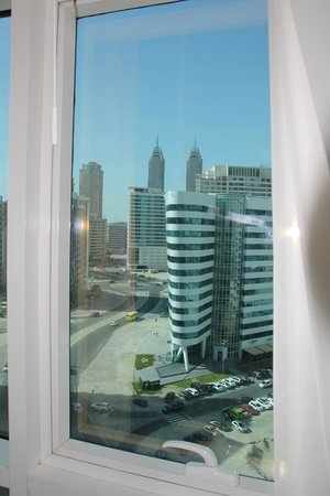 Gulf Oasis Hotel Apartments: view from bedroom