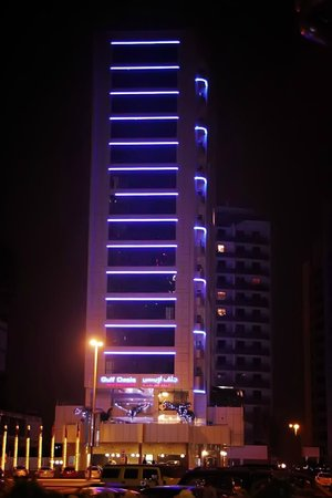 Gulf Oasis Hotel Apartments : view to hotel from nearest cafe