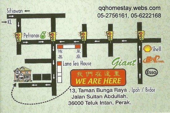 Location Map Picture Of Qq Homestay Teluk Intan Tripadvisor