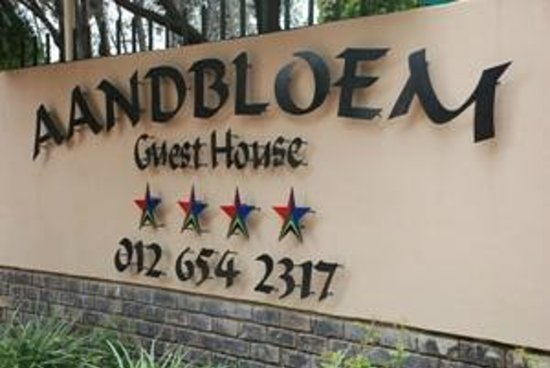 Aandbloem Guest House: Name Board