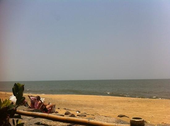 Chilliout Cafe Cherai beach : vue du chilli out café