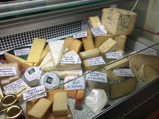 Harbour Deli: Some of our cheeses - mostly local with a few favourites from further afield.