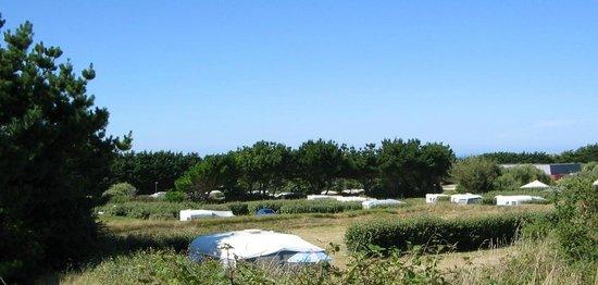 Camping Aber Benoit: Vue des emplacements du camping de l'aber benoît finistère