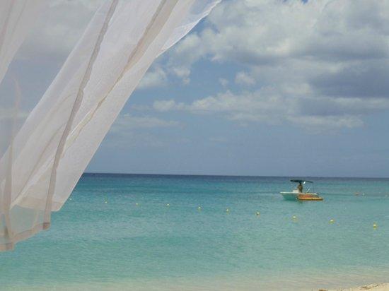 The House by Elegant Hotels: under gazebo on beach