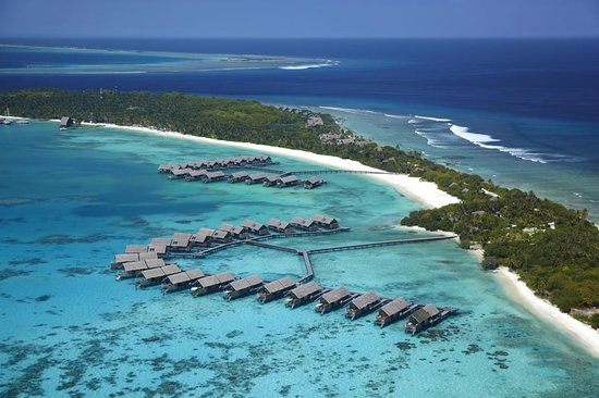Shangri-La's Villingili Resort and Spa Maldives: Aerial View