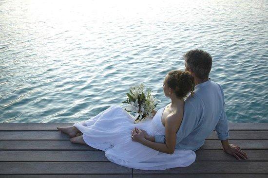 Shangri-La's Villingili Resort and Spa Maldives: Wedding couple
