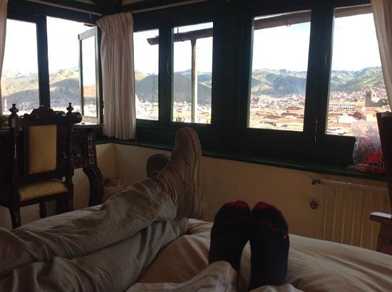 Hostal Corihuasi: the view from the bed
