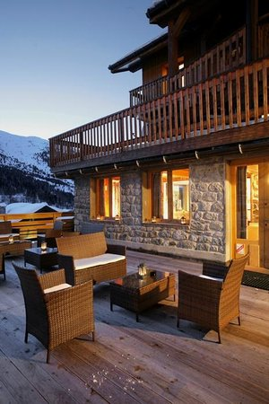 Hotel Eliova Le Génépi : Terrasse