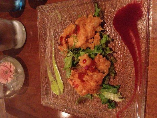 Pure Wine Bar & Bistro: King tempura prawns delicious!