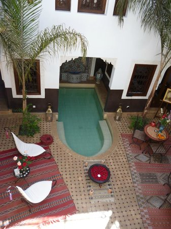 Riad Charme d'Orient: View of the internal courtyard