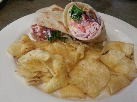 Rush Creek Bistro: Wrapped turkey sandwich