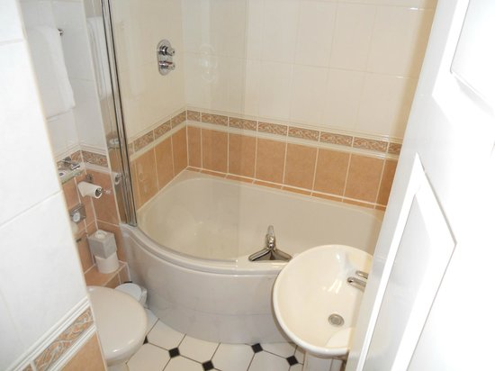 Bathroom. Clean but difficult to move about.