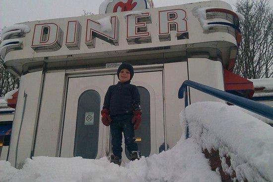 Snow at OK Diner