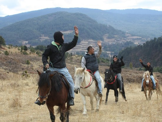 Bumthang, Butan: Our trainer having lighter moments
