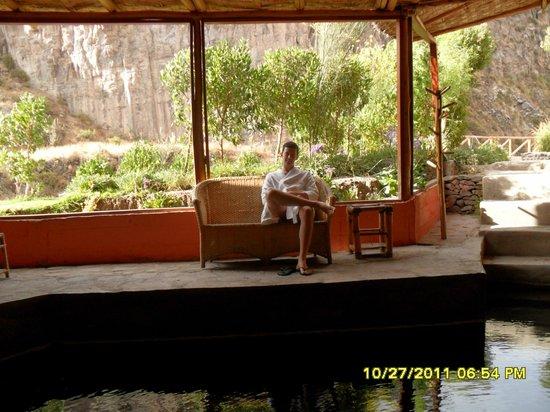 Hotel El Refugio: Esta é a piscina termal coberta