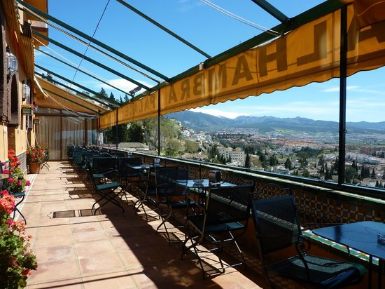 Hotel Alhambra Palace: The Bar Terrace