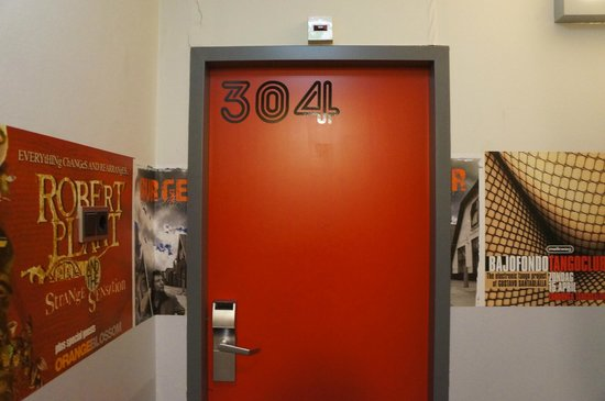 BackStage Hotel Amsterdam: la porte de notre chambre