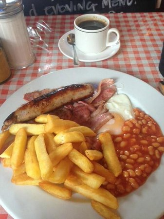 Terry's Cafe: Full English Breakfast & black coffee!