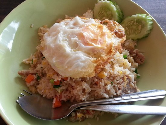 Number 1 Restaurant: pork fried rice with egg