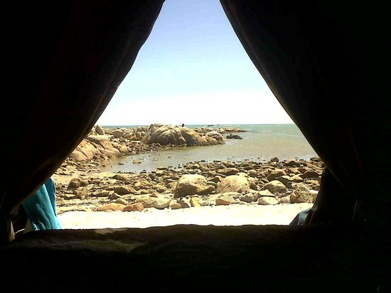 The Beach Camp: View from the bed