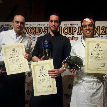 ZEKE Sushi Bar : Marek Hora (left position), ZEKE Sushi Chef - awarded in Japan - World Sushi Cup 2013