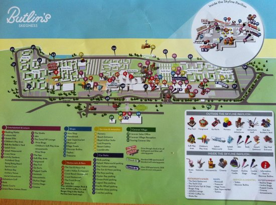 Butlins Skegness Map Resort map   Picture of Butlin's Skegness Resort, Ingoldmells