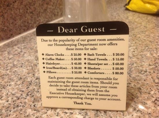 Sleep Inn & Suites Montgomery: theft warning sign