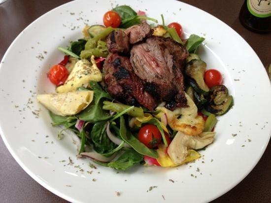 Cafe Y: Lamb with Greek salad