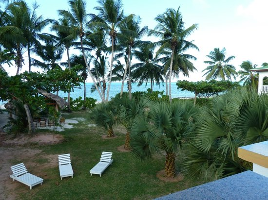 Ocean Jewels Resort: View from the upstairs bedroom balcony