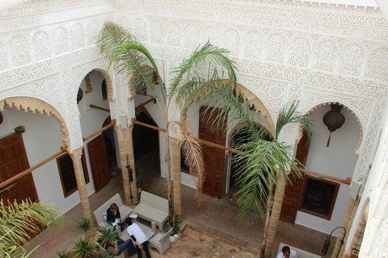 Riad Kalaa : le patio vu d'en haut